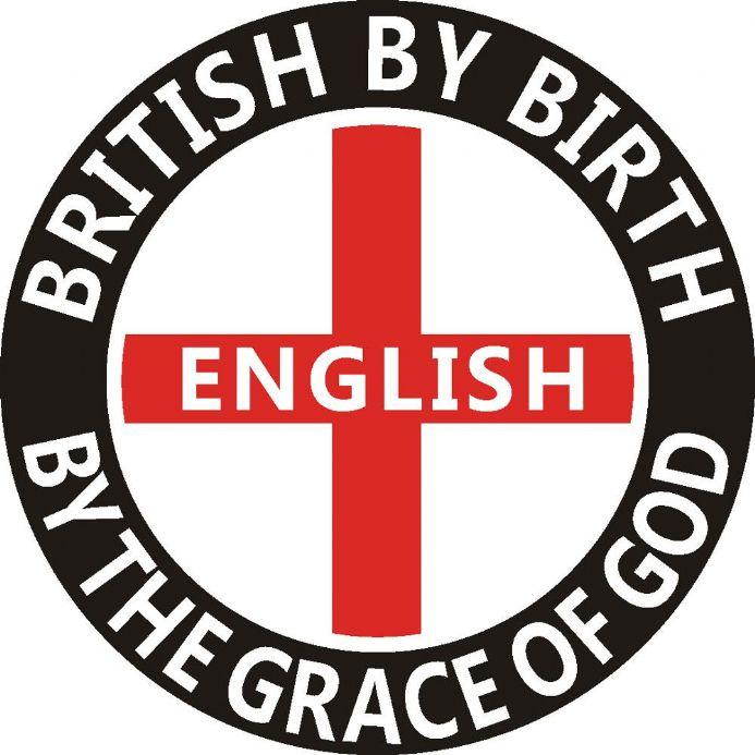 England Car Window Sticker - British By Birth English by the Grace of God